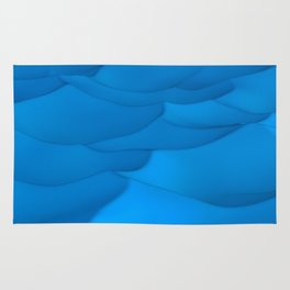 Blue wavy surface Rug