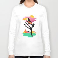 toucan Long Sleeve T-shirts featuring Toucan by Vasilisa Wise