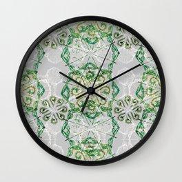 Malachite Green Dragonfly Chaos Wall Clock