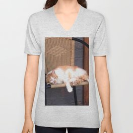 Lazy Cat Unisex V-Neck