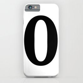 0 (BLACK & WHITE NUMBERS) iPhone Case