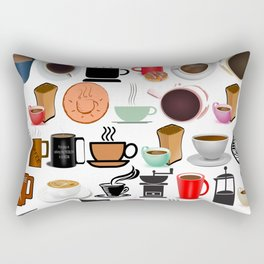 Coffee Mugs, Cups and Makers Rectangular Pillow
