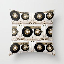 Retro classic vintage transparent mix cassette tape Throw Pillow