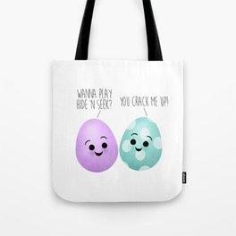 Easter Egg Buddies | You Crack Me Up! Tote Bag