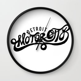 Motor City Wall Clock