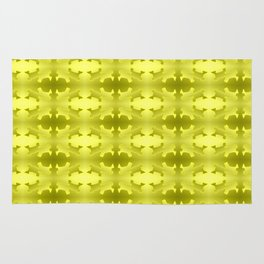 Pattern geometrical yellow 3d Rug