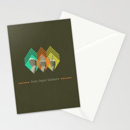 rock paper scissors Stationery Cards