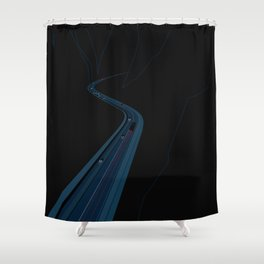 Through the Construct of Night Shower Curtain