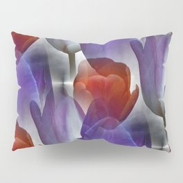 pattern with red and purple tulips Pillow Sham