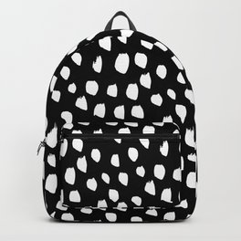 Handdrawn drops and dots on black-Mix & Match with Simplicty of life Backpack