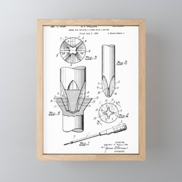 Phillips Screwdriver: Henry F. Phillips Screwdriver Patent Framed Mini Art Print
