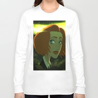 scully Long Sleeve T-shirts featuring Scully  by Annalisa Leoni