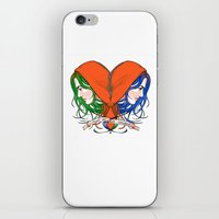 nietzsche iPhone & iPod Skins featuring Clementine's Heart by castlepöp