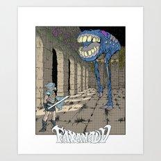 NES Tribute #1: Faxanadu Art Print