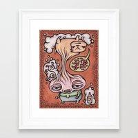 drunk Framed Art Prints featuring Drunk by Jeffrey Francis