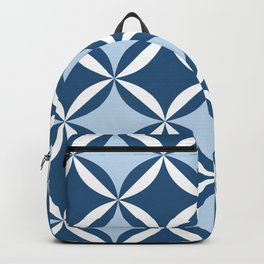 Mid century cool blue Backpack