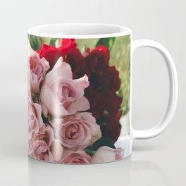Red and Pink Roses in Basket Coffee Mug