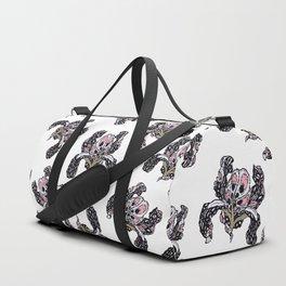 T.F TRAN PINK BUTTERFLY IRIS Duffle Bag