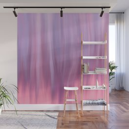 Modern pink lavender lilac watercolor brushstrokes Wall Mural