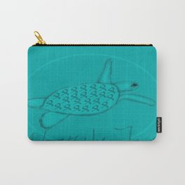Wear the Teal Ovarian Cancer Awareness Sea Turtle Carry-All Pouch