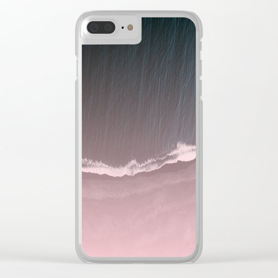 Fade into the sea Clear iPhone Case