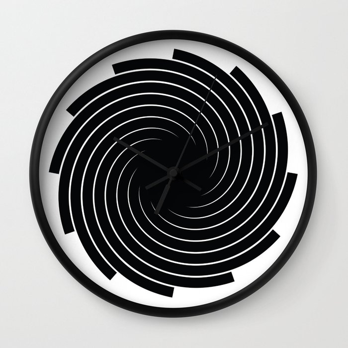 Swirl - Black Wall Clock