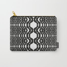 Black and White Swish Carry-All Pouch