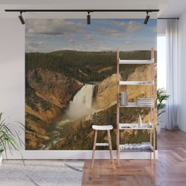 Majestic Yellowstone Upper Falls Wall Mural