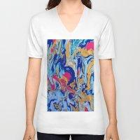 fringe V-neck T-shirts featuring fringe by Glint & Lime Art