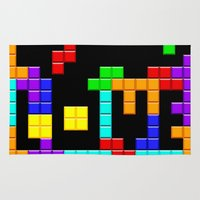 tetris Area & Throw Rugs featuring Tetris Love by Wheel of Fortune