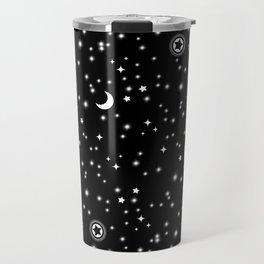 Black Space Theme Travel Mug