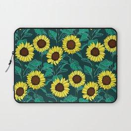 Sunny Sunflowers - Emerald Laptop Sleeve