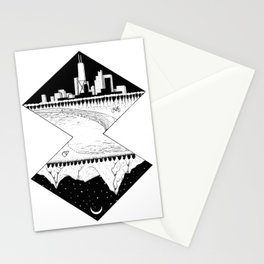 City by the Mountains Stationery Cards