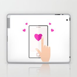 Smart phone with love message for valentines day Laptop & iPad Skin