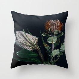 Banksia Flowers Throw Pillow