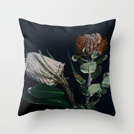 Banksia Flowers Throw Pillow