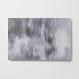 Fusion Abstract Watercolor Blend Pantone Lilac Gray / Fluid Art Ink Metal Print