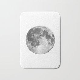 Full Moon phase print black-white monochrome new lunar eclipse poster home bedroom wall decor Bath Mat