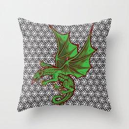 DRAGON MAZE Throw Pillow
