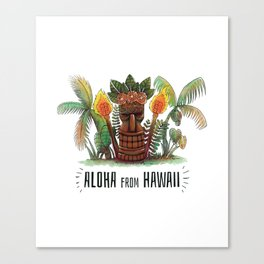 Aloha From Hawaii Canvas Print