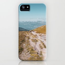 Panoramic Sunny Mountains - Landscape Photography iPhone Case
