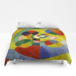 """Robert Delaunay """"Circular Forms"""" (detail) Comforters"""