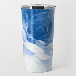 Blue Watercolor Design Travel Mug