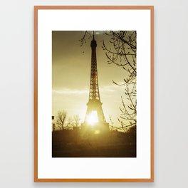 Paris eiffel tower and Seine river. Framed Art Print