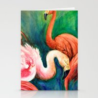 hot pink Stationery Cards featuring Hot Pink by Brigitta
