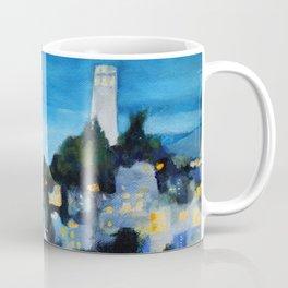 Coit Tower San Francisco at Night Coffee Mug