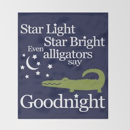 Goodnight Alligator Throw Blanket