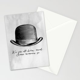 Waiting for Godot - We Are All Born Mad Stationery Cards