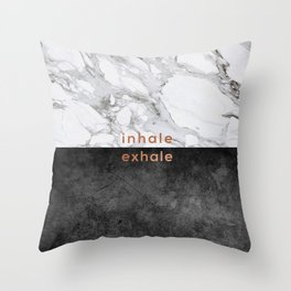 Inhale Exhale Copper Throw Pillow