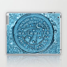 Blue Water Meter New Orleans Sewer Ford Louisiana Laptop & iPad Skin